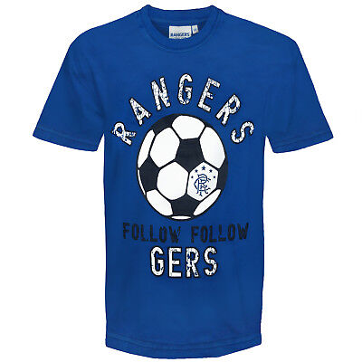 Rangers FC Official Football Gift Infants Graphic T-Shirt Royal Blue
