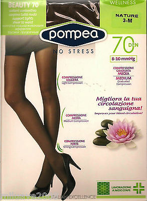 Media Panty Tights Collants Pompea -70Den Compresion Media Masaje Y Relax