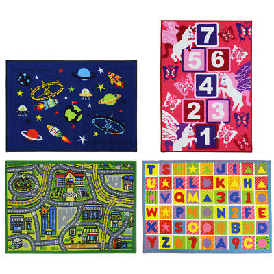 JVL Activity Play Floor Mat Car Map Numbers Children Kids Toy Playroom 80x110cm