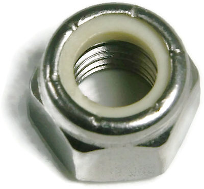 Stainless Steel Nylon Insert Lock Hex Nut UNF #10-32, Qty 100