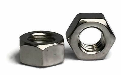 Stainless Steel Finished Hex Nut UNC 1/4-20, Qty 100