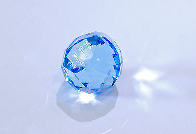 Swarovski 2009 SCS Water Project Blue Gala Paperweight 1271334 Brand New in Box