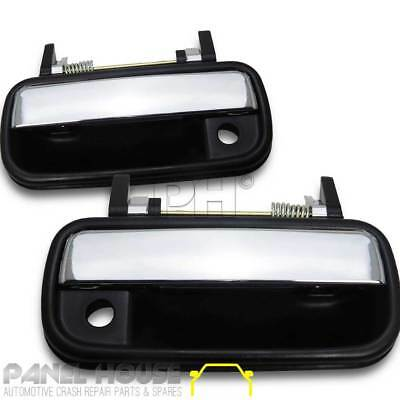 NEW Toyota Hilux Ute '01-'05 Chrome & Black Front PAIR Outer Door Handle LHS RHS