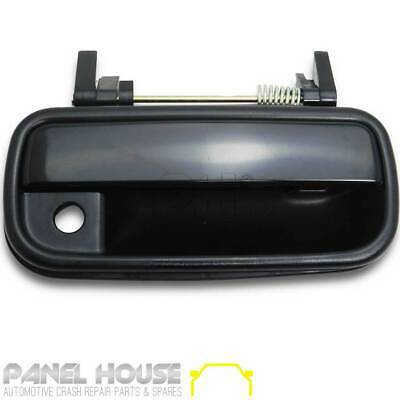 Right Outer Door Handle Black with Keyhole for Toyota Hilux 1988 - 2005 Ute
