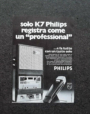 K594- Advertising Pubblicità -1973- PHILIPS REGISTRATORE K7