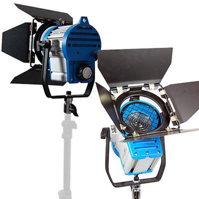 2pcs x Fresnel Tungsten Spotlight Barndor 1000W Lighting Video Studio ARRI Set
