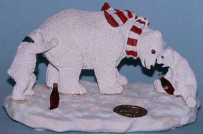 "Coca Cola Heritage Collection, Cavanaugh ""Bear Play"" Polar Bear, play w Dad 1995"