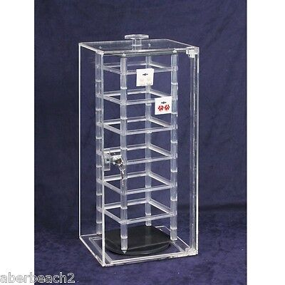 Acrylic Locking Display Case with Revolving Earring Stand Holds 48 Pair