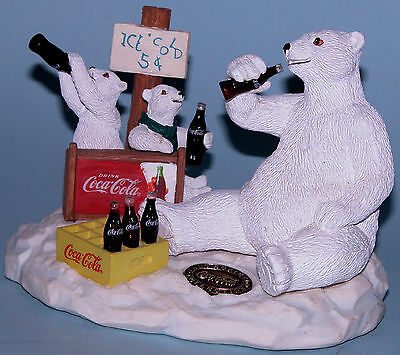 "Coca Cola Heritage Collection, Cavanaugh ""Entrepreneurs"" polar bear coke stand"