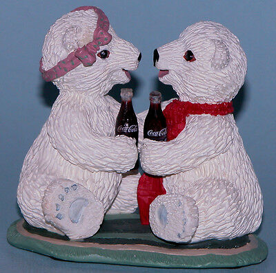 "Coca Cola Heritage Collection ""Nothing Like a Friend"" Polar bears love romance"
