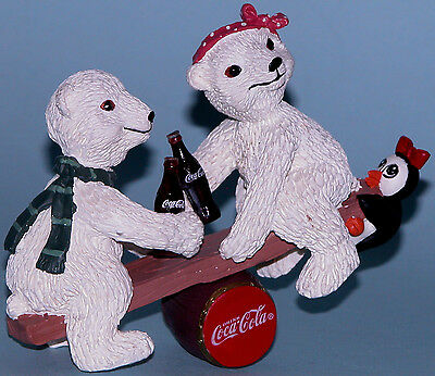 "Coca Cola Heritage Collection ""Balancing Act"" Polar bears, penguin"