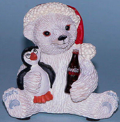 "Coca Cola Heritage Collection  ""Christmas Wish"" polar bear w penguin"