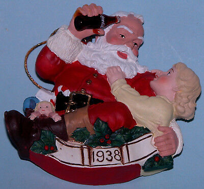 "Coca Cola Heritage Collection Cavanaugh ""Pause that Refreshes"" ornament Santa"