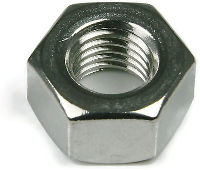 Qty 25 Black Oxide Stainless Steel Hex Jam Thin Nut UNC 3//8-16