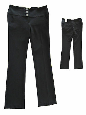 Girls New Black Trousers School/Casual/Smart Girls Trousers Ex-Store 9,10 or 11Y