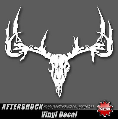 Archery Skull Hunting Sticker Whitetail Deer Decal