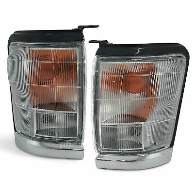 Front Corner Light PAIR Chrome Indicator Fits Toyota Hilux 4WD 97-01 SR5
