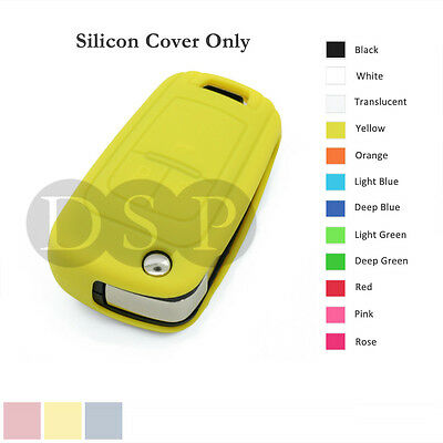 Silicone Cover Holder fit for Chevrolet Folding Flip Remote Key Fob Case 12C YL