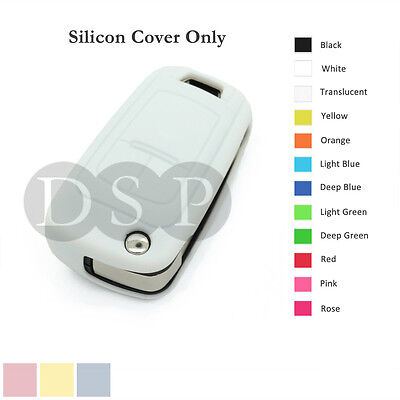 Silicone Cover Holder fit for Chevrolet Folding Flip Remote Key Fob Case 12C WT