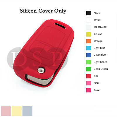 Silicone Cover Holder fit for Chevrolet Folding Flip Remote Key Fob Case 12C RD