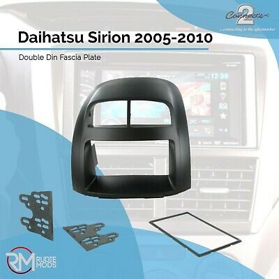 Daihatsu Sirion 05-10 Black Double Din Car Stereo Fitting Kit Facia CT23DH02