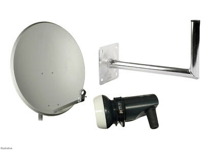 80CM Satellite/LNB/Wall Mount Dish Sky Freesat Perfect for Seaside Location
