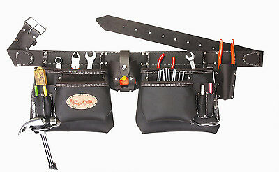 Top of the line Oil Tanned Leather Tool Pouch Bag Belt / Tool Rig Apron