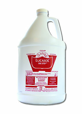 Lucasol Tanning Bed Disinfectant Cleaner Gallon  Free Spray Bottle and Eyewear