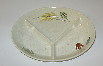 FRANCISCAN AUTUMN LEAVES CHINA CALIFORNIA USA OVEN SAFE CHILDS PLATE DIVIDED