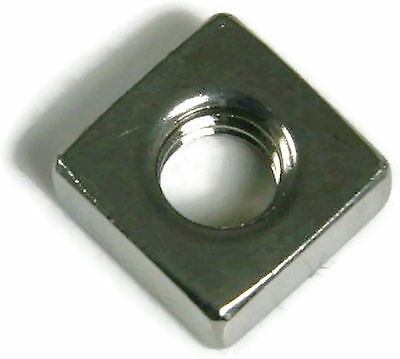 Stainless Steel Square Nuts UNF #10-32, Qty 100