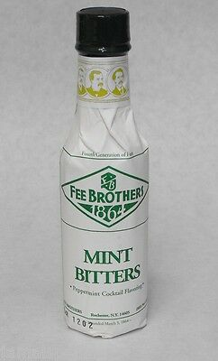 5 oz. Fee Bros PEPPERMINT Aromatic BITTERS Cocktail Flavoring FREE USA SHIP