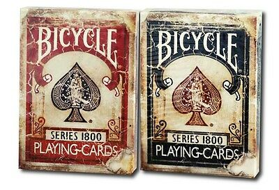 Lot 2 Bicycle Vintage 1800 1 Red 1 Blue Playing Cards Deck By Ellusionist Magic
