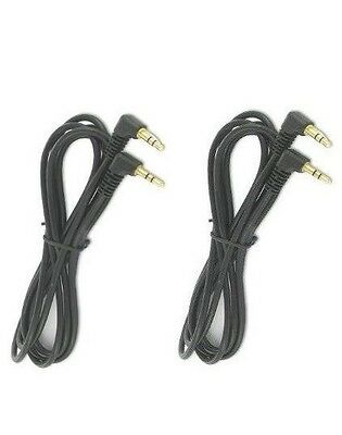 New 3.5mm male to male Auxiliary audio Cable Right Angle 90 degrees ( 2 cables)