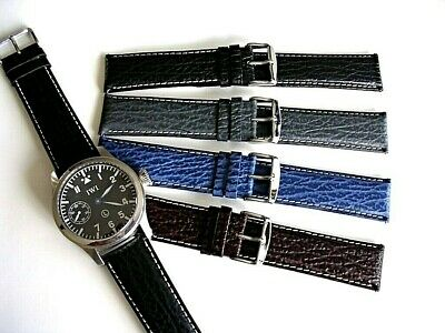 22mm 24mm Sharkskin calf XL extra long Quick Release watch band strap IW SUISSE