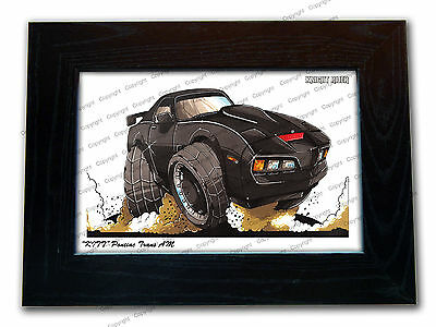 KNIGHT RIDER KITT Classic Movie Car Koolart Quality Glass Framed Picture