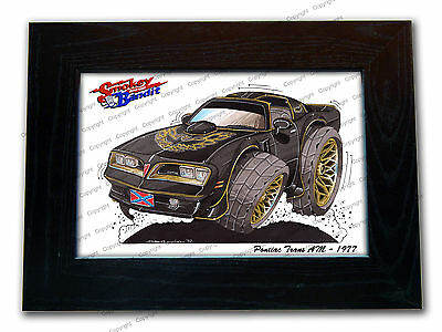 SMOKEY AND THE BANDIT Classic Movie Car Koolart Quality Glass Framed Picture