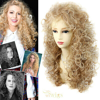 Wiwigs Untamed Long Strawberry Blonde Mix Curly Wild Ladies Wig