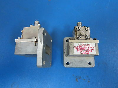 LOT OF 2 WAVEGUIDE ADAPTERS TO SMA Model 1125-SFO 10.7-11.7 GHZ FERROCOM