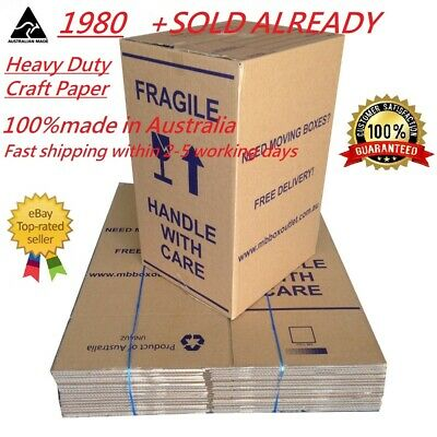 20 X 100L Moving Boxes + Packing Materials Cardboard Removalist Package Deal