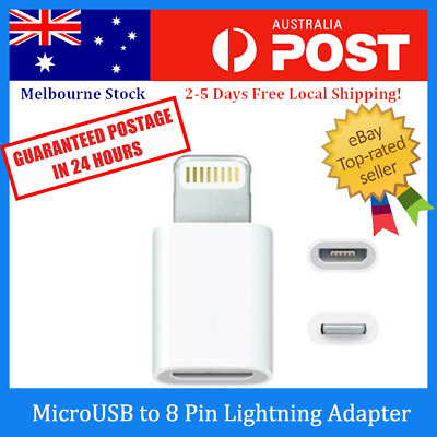 Micro USB to 8 Pin Lightning Port Adapter Converter for iPhone 5 / 6 / 7 / 8 / X