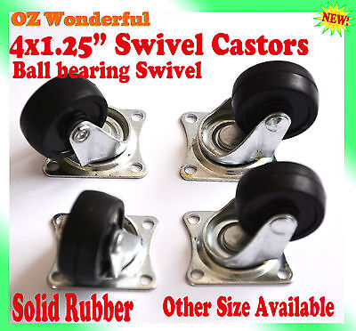 "4 pcs 1.25"" Swivel Castor Wheel 30mm Castors New Good Quality"