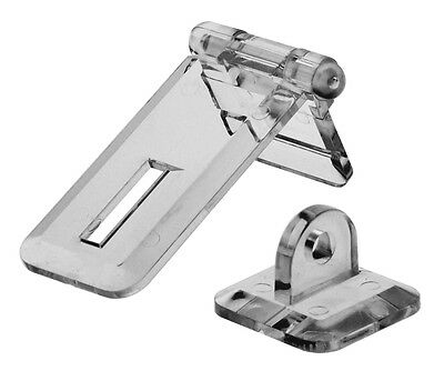6) Clear 1 X 2 1/4 Flat Mount Position Hasp Acrylic Free Shipping