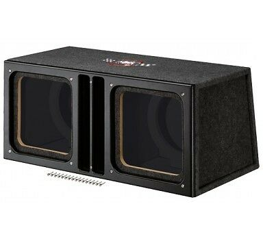 Caisson MTX Audio Bass-Reflex SLH10x2Su 25cm carré