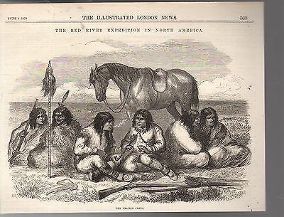 1870 Illustrated London News Native American-Cree Indians of the Red River