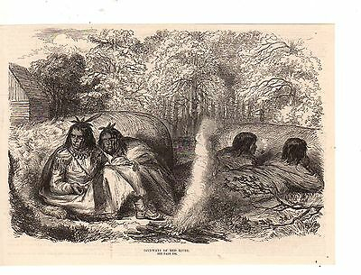1870 Illustrated London News Native American-Ojibway Indians of the Red River
