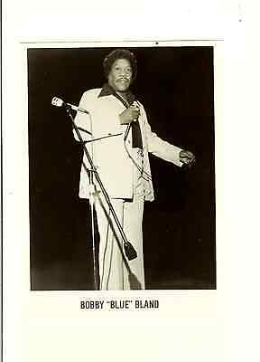 "Bobby Blue Bland Publicity Photo 5"" X 8"" With Promo Material Free Shipping"