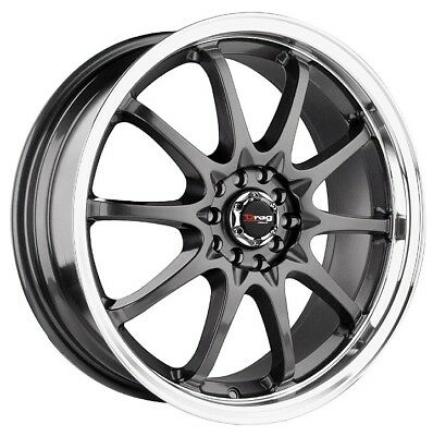 17 Drag Dr9 Gun Metal Wheels Rims Mazda 3 6 Rx7 Rx8 Mx6