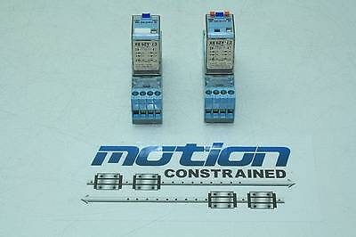 Lot of 2 Releco C7-A29 DX Ice Cube Relays with Socket Bases 24V DC Coils
