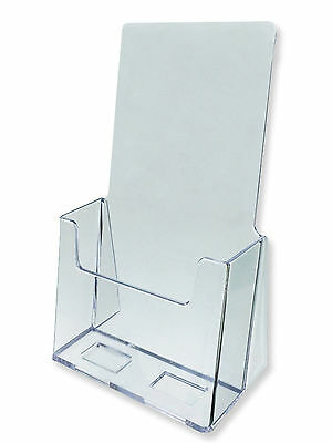 """Acrylic Literature Brochure Holder for 4x9"""" - 20-pack"""