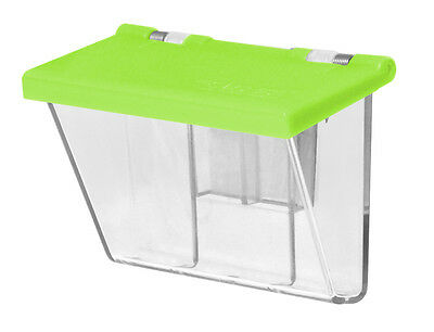 1) Neon Green Lid Outdoor Premium Quality Business Card Holder FREE SHIPPING